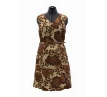 Платье с коричневым узором Tu